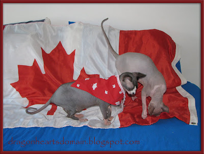 Dragonheart and Merlin on Canada Day