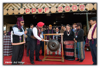 PPWF is being declared open by beating the traditional Gong by H.E.