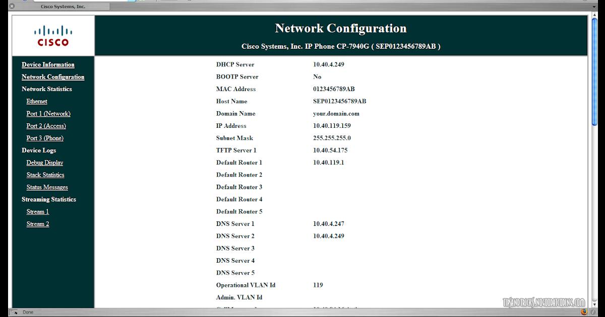No Good Tips & Tricks: Hacking The Cisco 7940 IP Phone