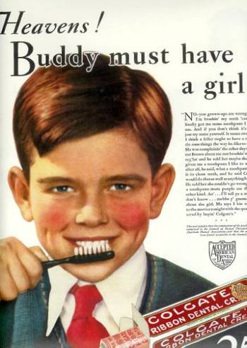 copyranter: Creepy as Hell Retro Toothpaste Ad of the Week.