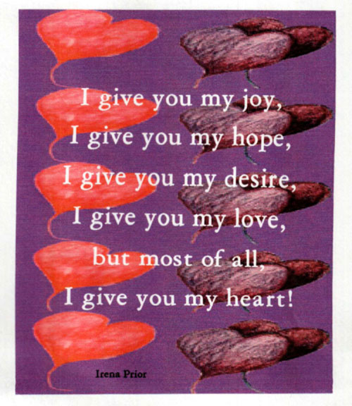 give to my heart: