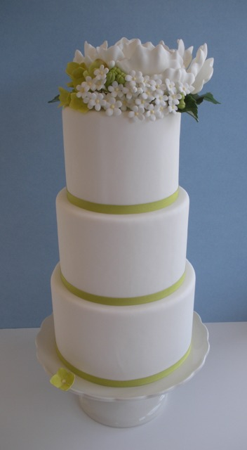 And a larger three tier design perfect for an early Spring wedding