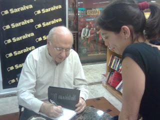 Verissimo e Rafaela na Saraiva, no Rio