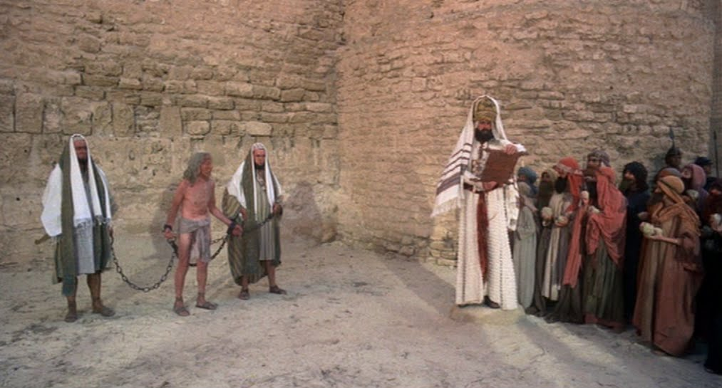 blasphemy in monty python s life of Sapardanis kostas the unexamined life is not worth living  the life of brian and the holy inquisition  monty python's life of brian:.