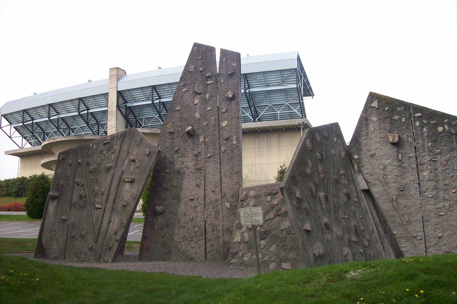 ExtraHyperActive: Free outdoor climbing wall at UW