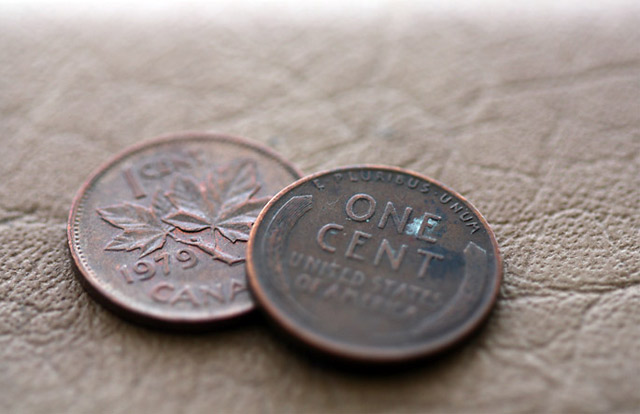 Canadian US Pennies