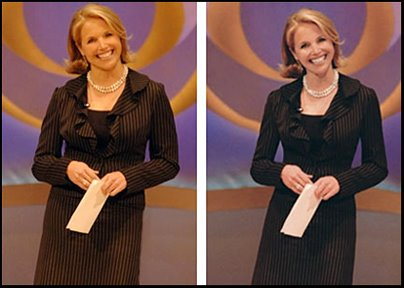 Katie Couric Photoshopped Thin