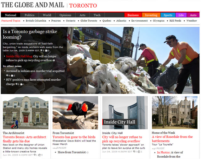Torontoist Globe and Mail