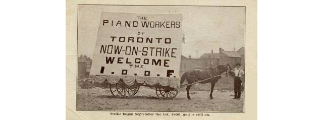 Toronto Piano Workers on Strike
