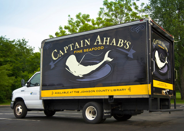 Book Truck Captain Ahab Johnson County Library Kansas City