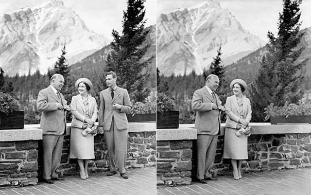 Mackenzie King Doctored Photo King George VI 1939