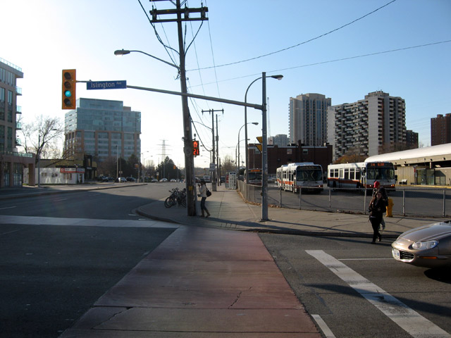 Islington and Bloor Street West Looking West 2009