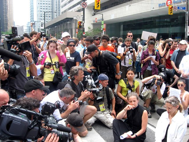 G20 Toronto St. James Protesters Media Wall
