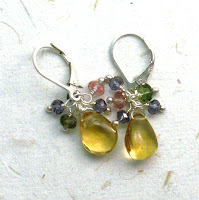 artisan jewelry earrings sterling silver citrine briolette