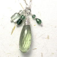 prasiolite green amethyst necklace sterling silver tourmaline