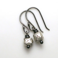 earrings sterling silver woven baskets