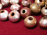 handcrafted jewelry bead copper brass sterling silver