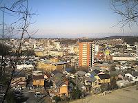 萩殿散策道から瀬戸市街地を見る