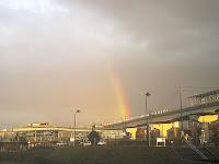 古戦場駅で見た虹