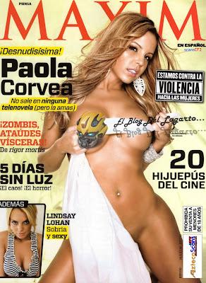 La revista Maxim en Español de Noviembre 2010 tiene a la modelo ...