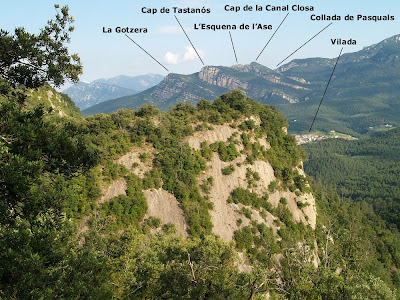 Vista de la zona de Tastanós per darrera La Vela