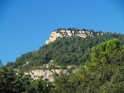 El Roc Gros des del torrent de la Tria