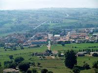 Sant Vicenç de Torelló des del Turó de Coll Gallina