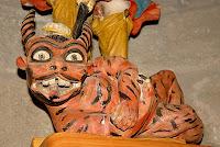Detall de dimoni a Sant Miquel de Fonogedell