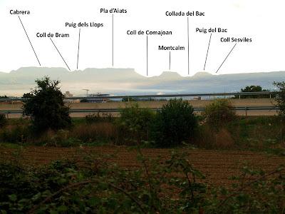 Vistes de les Muntanyes de Cabrera tot sortint de Vic