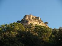 El Castell de Centelles des de Can Pere Xic