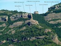 La Cova del Drac, la Roca Petanta... des del Puig Codina