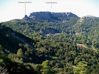 Castellsapera des de la Roca del Corb