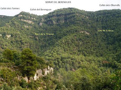 El Serrat del Berenguer en front de la Roca