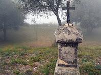 Creu amb escrit a l'arribada de Sant Martí Xic. Autor: Carlos Albacete