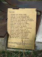 Escrit de la taula d'orientació en arribar a Sant Martí Xic