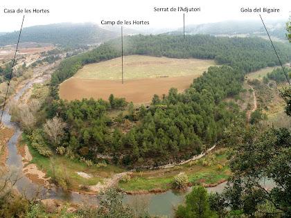 Un dels meandres del Llobregat des de la Roca Tinyosa