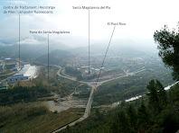 Vistes del Pont de Vilomara i Rocafort des de la Punta Sabata