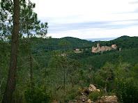 Santuari de Sant Pere del Bosc des de la zona dels Canyassos