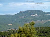 Vista de les Serres de Font-rubí des del Turó del Samuntà