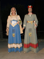 Els gegantons Isarn i Aigó
