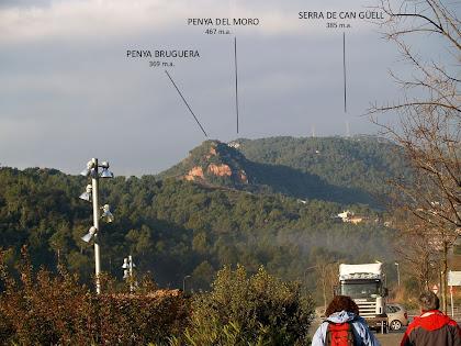 La Penya Bruguera i el Serrat de Can Güell