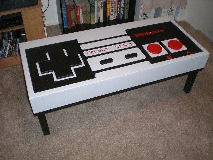 Mortys Art Work Nintendo Coffee Table