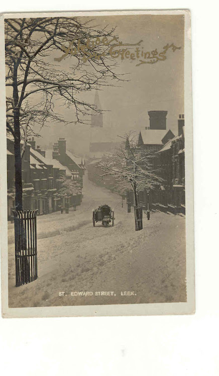 St Edward St in the snow