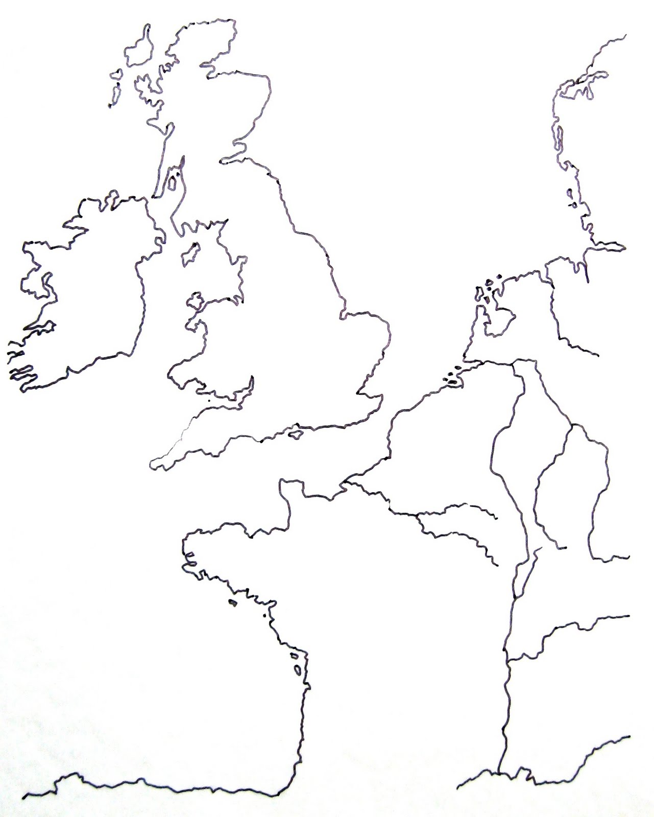 Christian Integration Blank Map of England