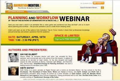 Animation Mentor Free Webinar