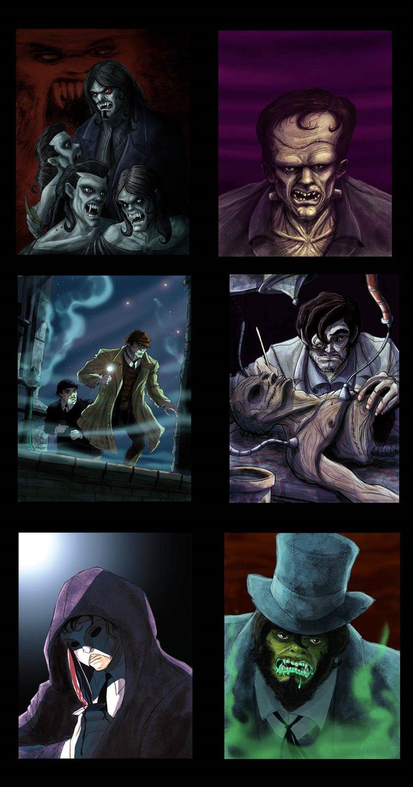 grafica juvenil / para libros de misterio y horror.( publicado)
