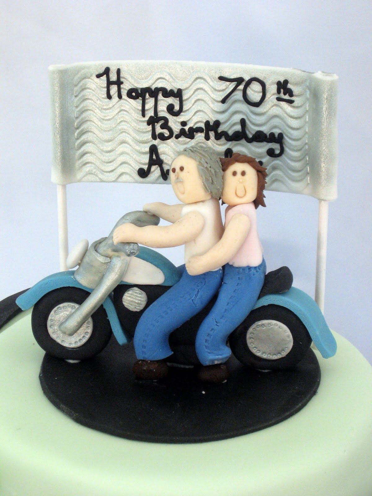 Cake Fiction Kawasaki Vulcan Motorbike Birthday Cake