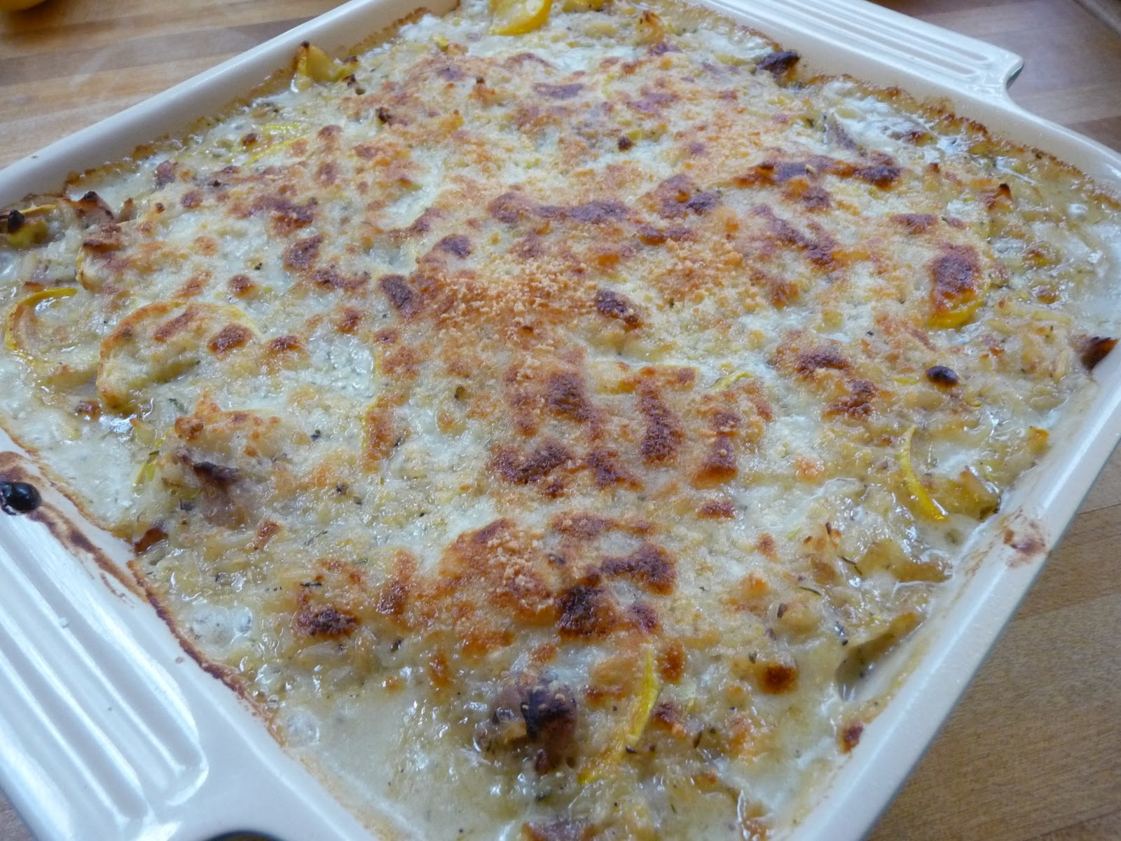 ... Brewing in the Kitchen: Summer Squash, Chicken and Rice Casserole