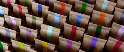 Monmouth coffee bags, Borough Market