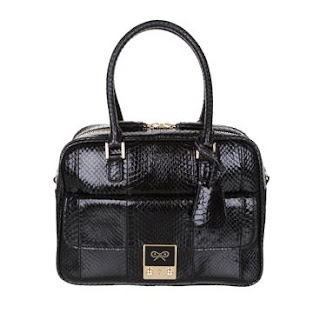 Anya Hindmarch Carker bag, Snake in Black